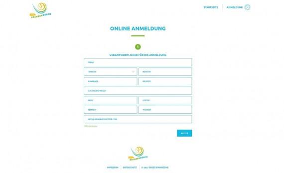 Entwicklung professioneller digitaler Anmeldetools. Beispiel SachsenBeach